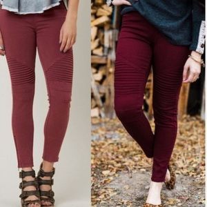 New Burgundy Moto PS Legging